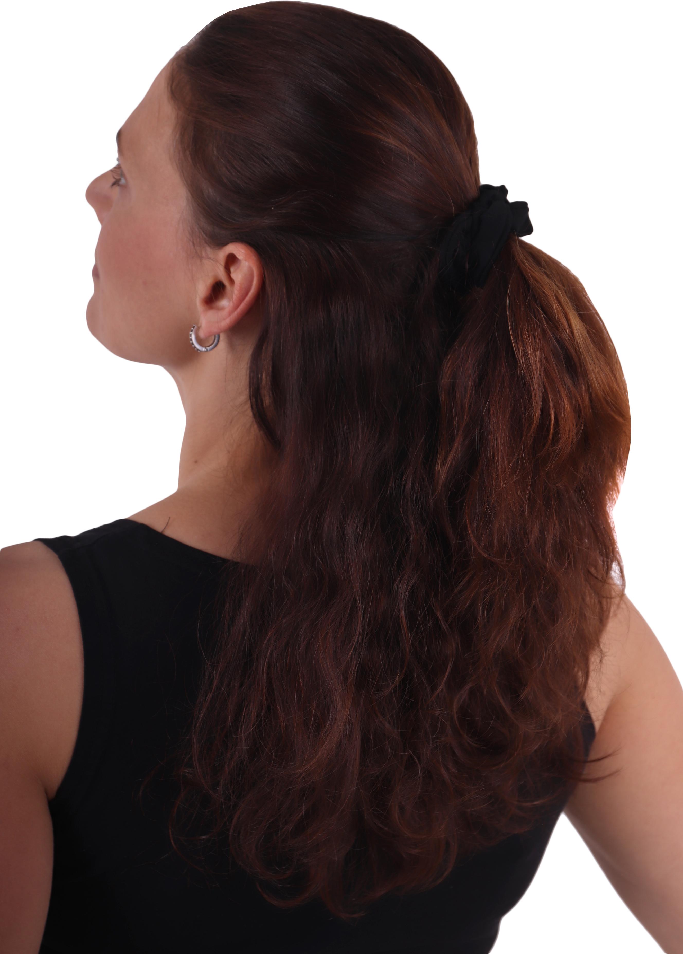 Látková gumička do vlasů, malá, černá