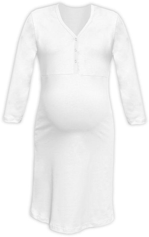 CECILIE- Nachthemd für schwangere und stillende Frauen, weiβ, 3/4 Ärmel