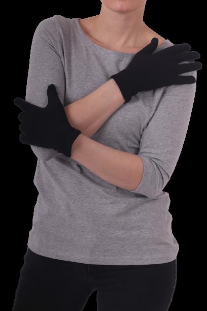 Rukavice bavlněné, dámské, černé