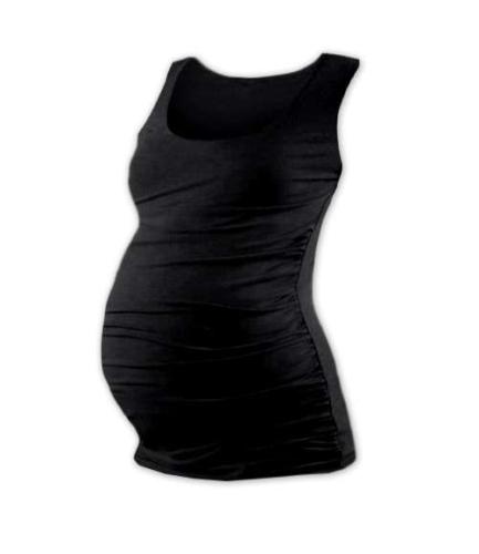 T-shirt for pregnant women Johanka, no sleeves, BLACK