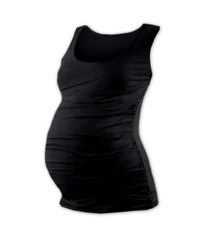T-shirt for pregnant women Johanka, no sleeves, BLACK