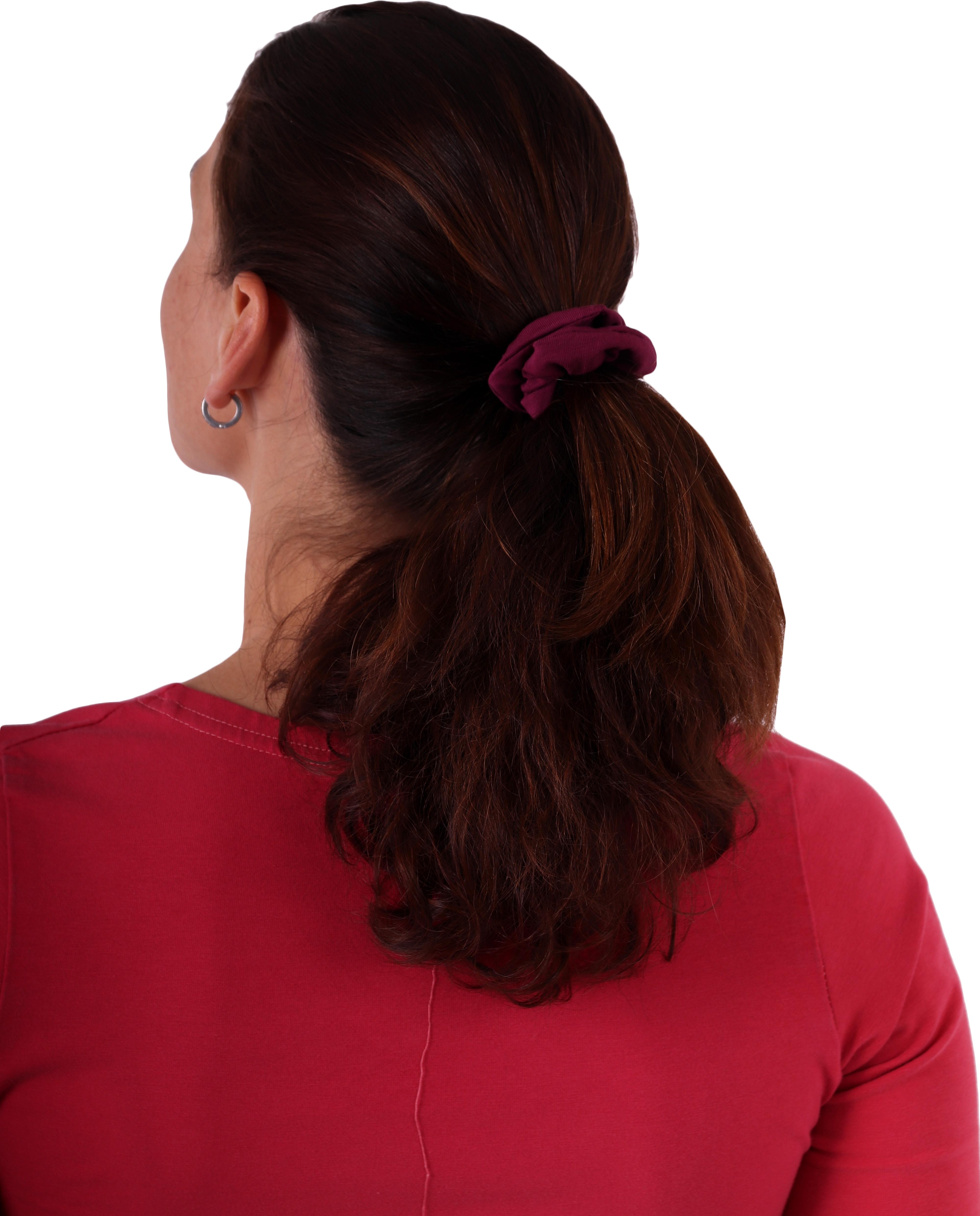 Látková gumička do vlasů, malá, cyklámen