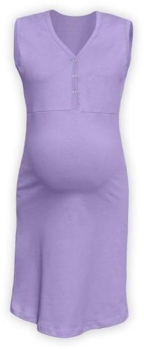 Dojčiace nočná košeľa rozopínajúce, bez rukávov, levanduľovo fialová
