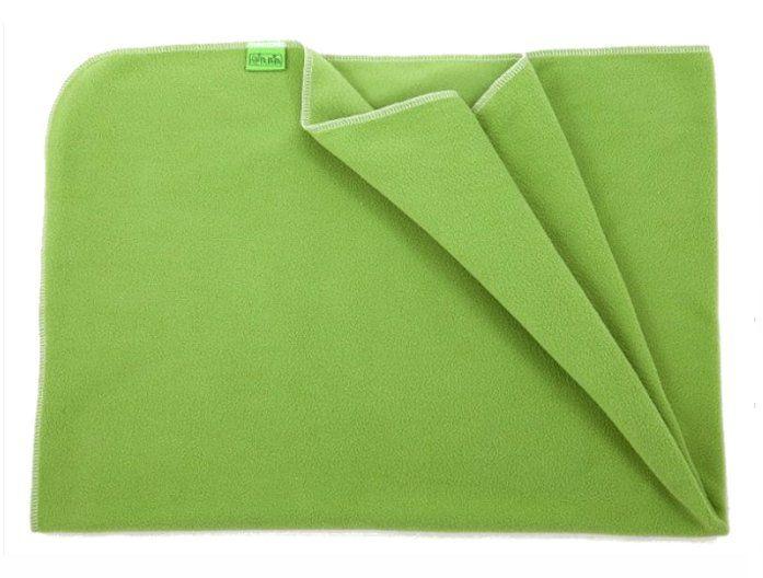 Deka do kočárku lehká, fleece, zelená, rozměr 70x100cm