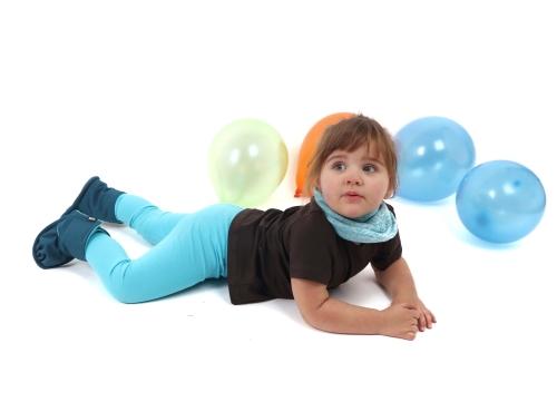 Children's leggings, turquoise