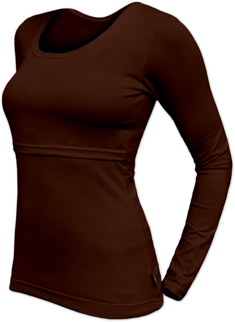 Kojicí tričko Kateřina, dlouhý rukáv, čokoládově hnědé