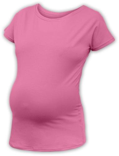 Těhotenské tričko s netopýřími rukávy Nikola, krátký rukáv, růžová