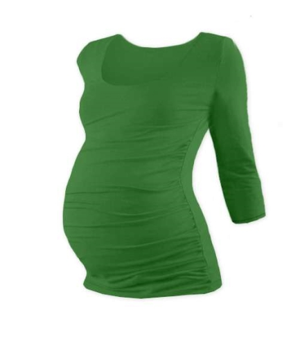 Maternity T-shirt Johanka, 3/4 sleeve, DARK GREEN