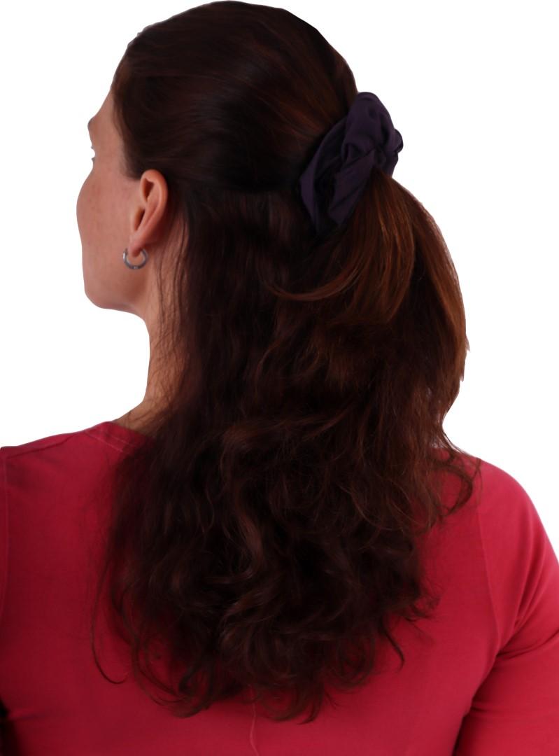 Látková gumička do vlasů, velká, švestkově fialová