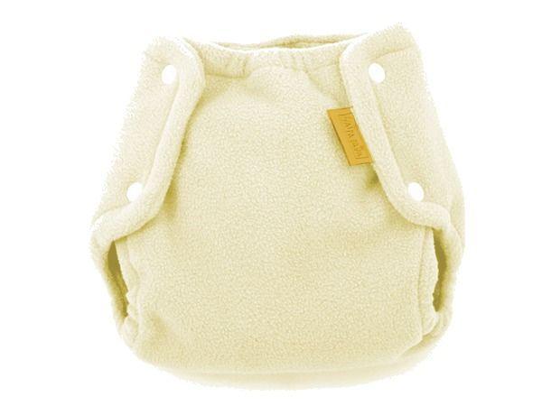 Svrchní kalhotky na látkové pleny fleece, krémové l 9-15kg