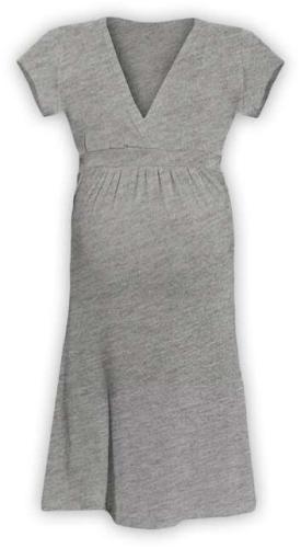 Těhotenské šaty Šarlota, šedý melír