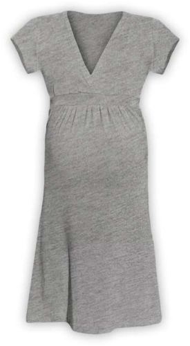 Tehotenské šaty Šarlota, sivý melír