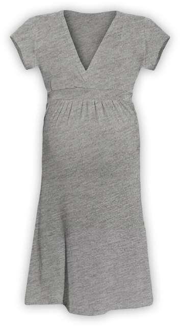 Těhotenské šaty šarlota, šedý melír m/l