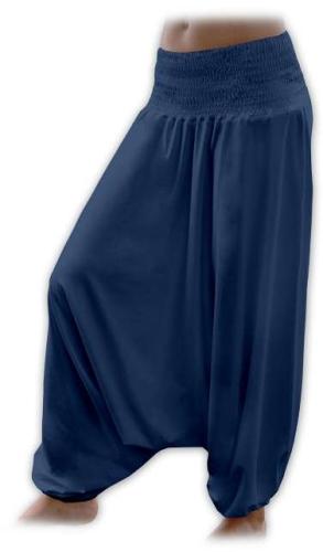 Tehotenské turecké nohavice, tmavo modré (jeans)