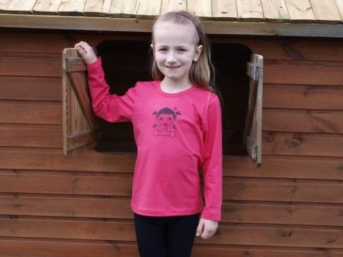 detské tričko s DR, losos. ružové, MIMI DIEVČATKO
