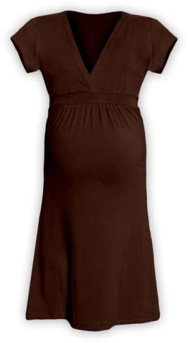 Těhotenské šaty Šarlota, hnědé