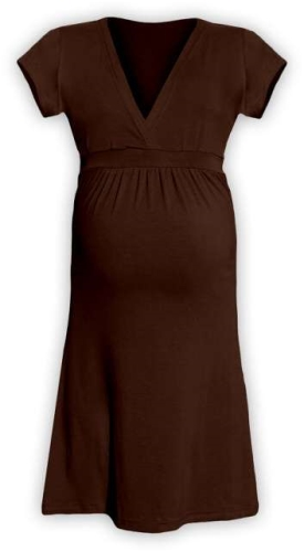 Tehotenské šaty Šarlota, hnedé