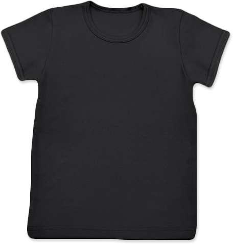 Detské tričko, krátky rukáv, čierne