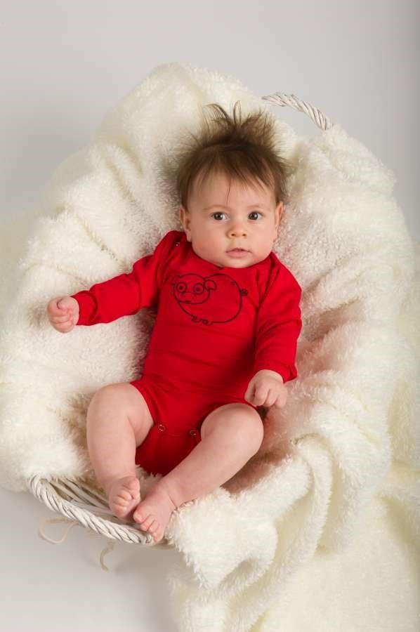 Body für Babys, rot