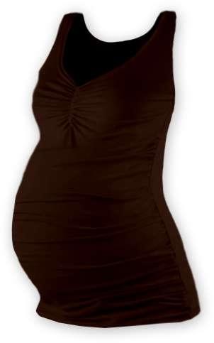 Tehotenské tielko Tatiana, hnedé