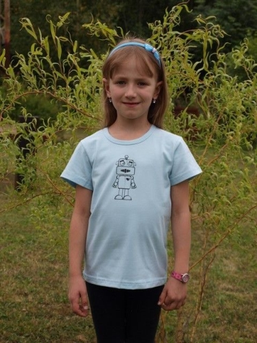 detské tričko s KR, sv. modré, ROBOT