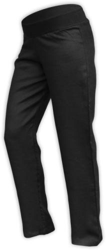 Ľanové dámske nohavice, aj pre tehotné, čiern