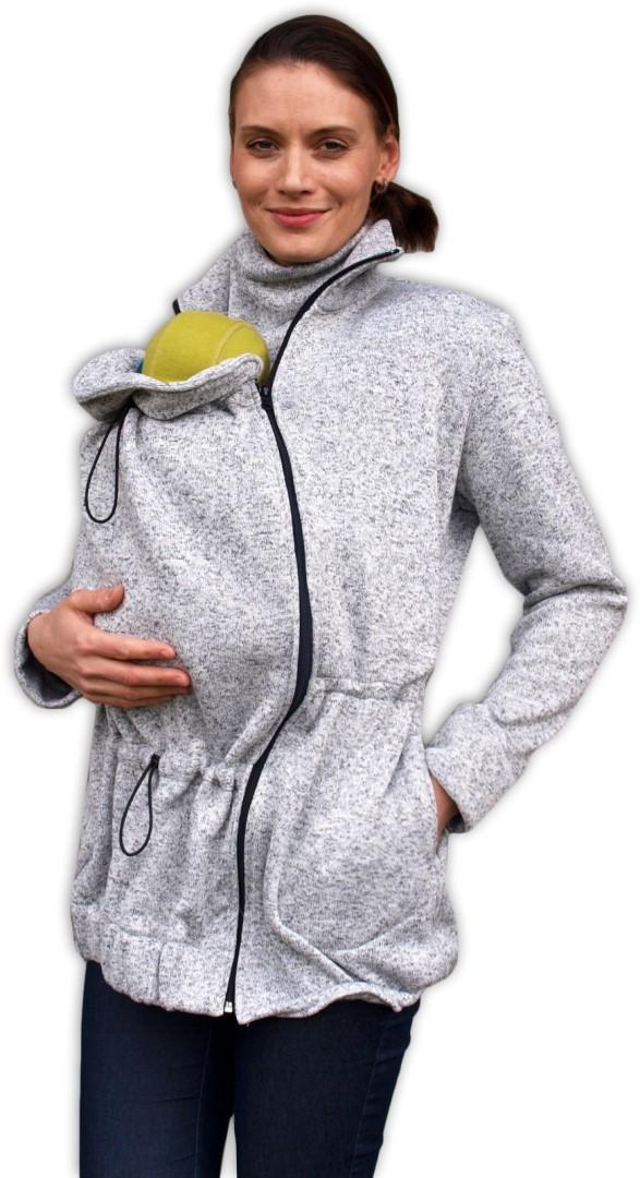 Nosící svetr Renata (přední nošení), šedý melír