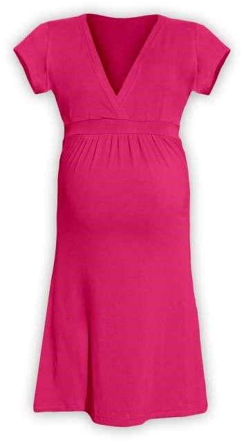 Těhotenské šaty Šarlota, sytě růžové