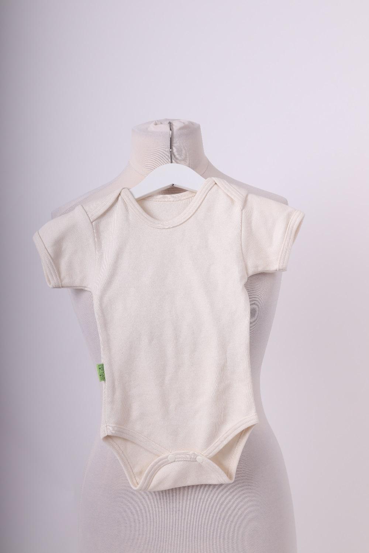 Bio-kojenecké body, kr. rukáv, béžové, 74