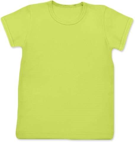 Shirt für Kinder, kurze Ärmel, hellgrün