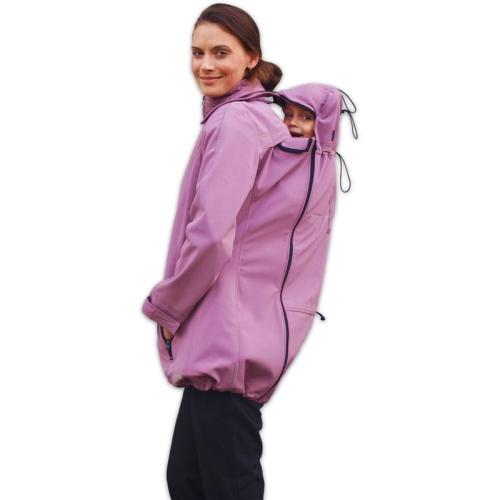Nosící softshell bunda pro nošení dětí vpředu i vzadu Sandra, růžová S/M