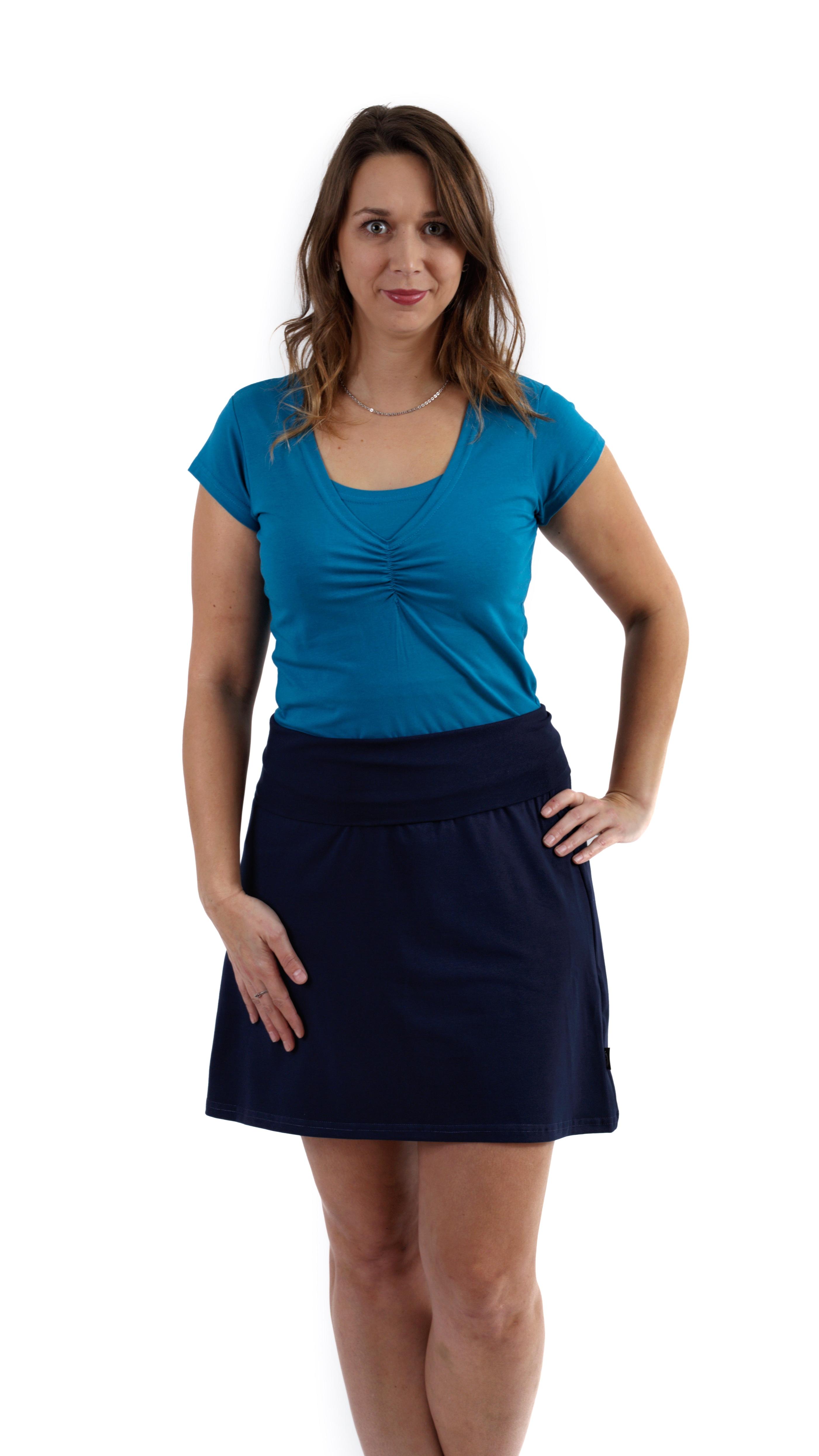 Těhotenská sukně jolana, tmavě modrá l/xl