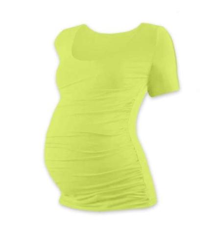 Tehotenské tričko Johanka, krátky rukáv, svetlo zelené