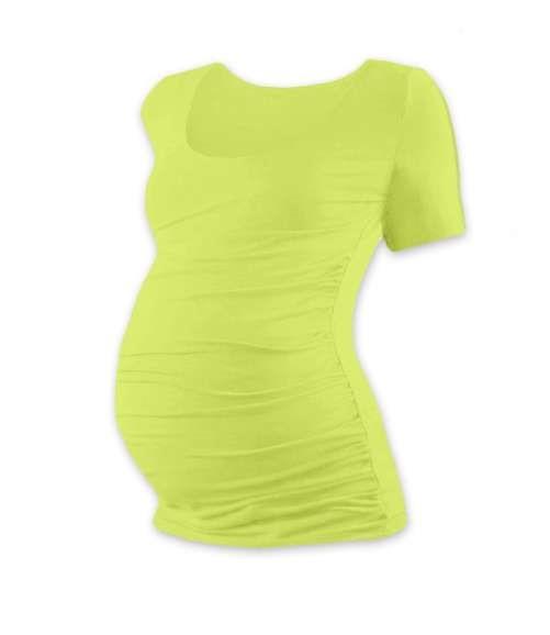 JOHANKA- T-shirt for pregnant women, short sleeves, LIGHT GREEN