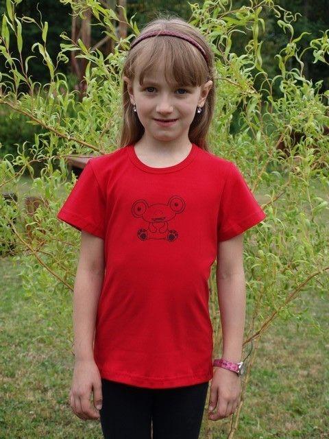 dětské tričko s KR, červené, MIMOZEMŠŤAN