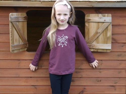 Children's T-shirt, long sleeve, bordeaux
