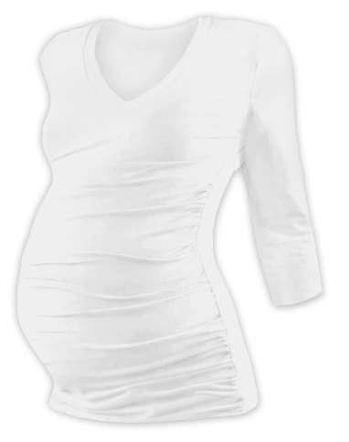 Maternity T-shirt Vanda, 3/4 sleeves, cream