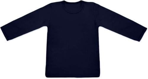 detské tričko DLHÝ RUKÁV s elastanom, TMAVO MODRÁ