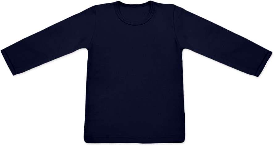dětské tričko dlouhý rukáv s elastanem, tmavě modrá 86