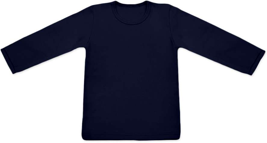 Shirt für Kinder, lange Ärmel, dunkelblau
