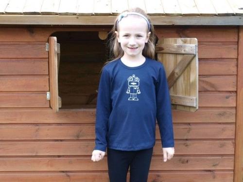 detské tričko s DR, tm. modré, ROBOT