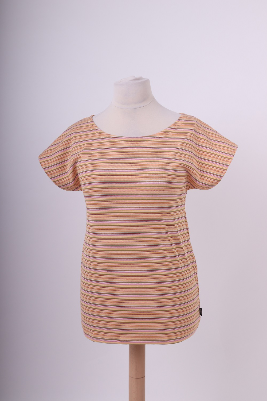 Dámské tričko petra, oranžové pruhy, l/xl