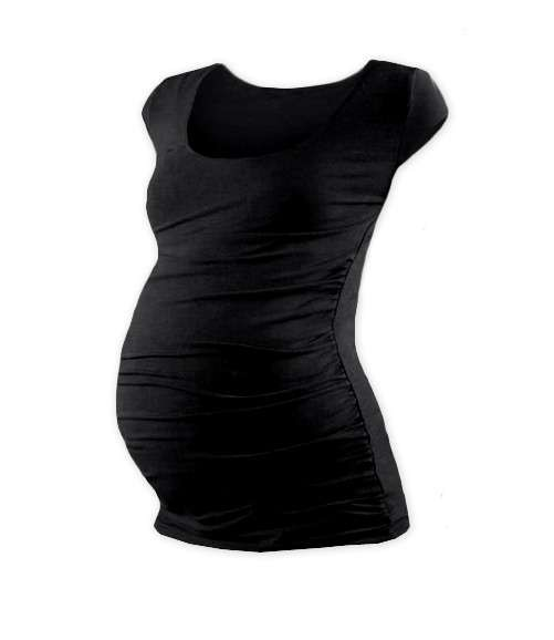 JOHANKA- T-shirt for pregnant women, mini sleeves, BLACK