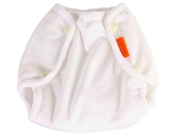 Nepromkovavé svrchní kalhotky na látkové pleny pul, bílé s 3-7kg