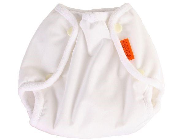 Nepromkovavé svrchní kalhotky na látkové pleny PUL, bílé