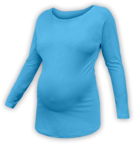 Tehotenské tričko s netopierími rukávmi Nikola, DLHÝ rukáv, tyrkysová