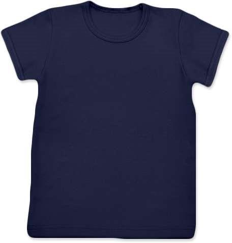 Shirt für Kinder, kurze Ärmel, dunkelblau