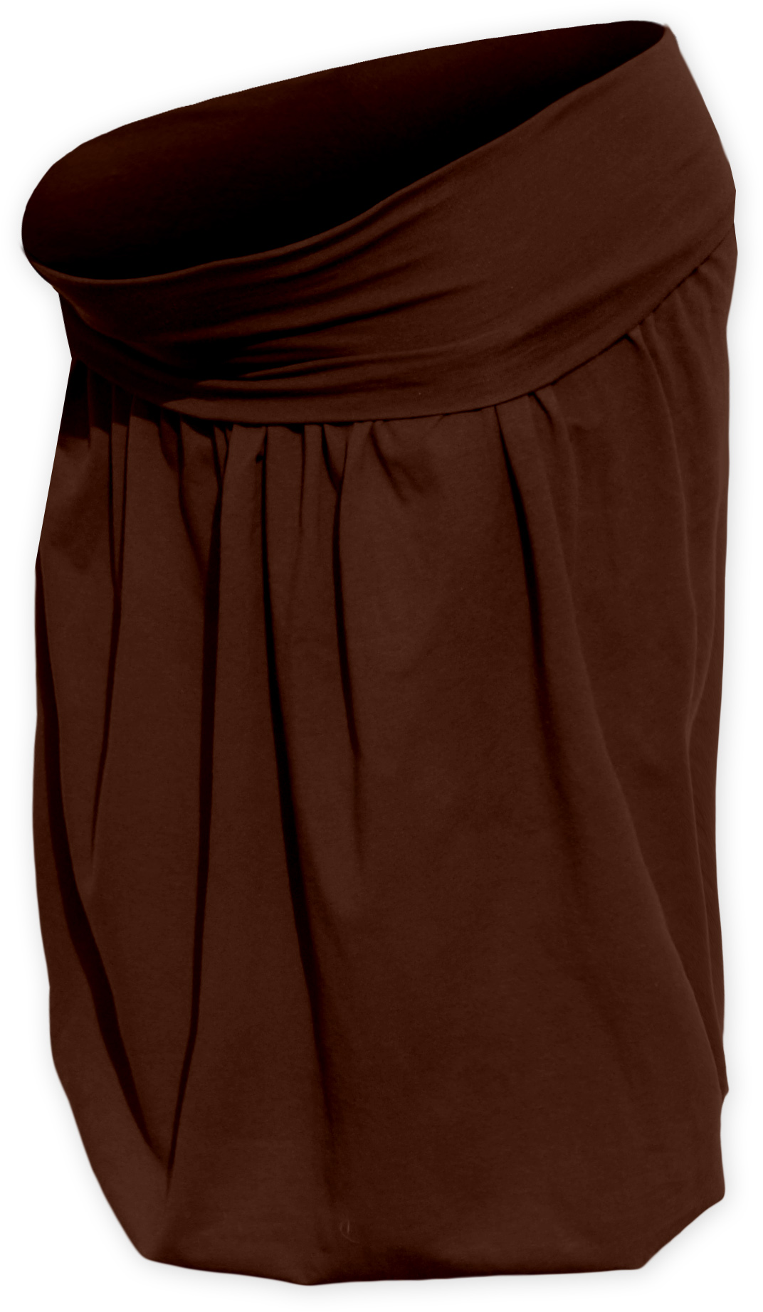 Těhotenská sukně balonová Sabina, hnědá