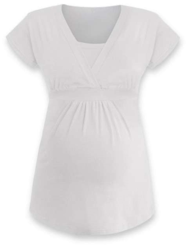 Maternity and breast-feeding tunic Anicka, cream