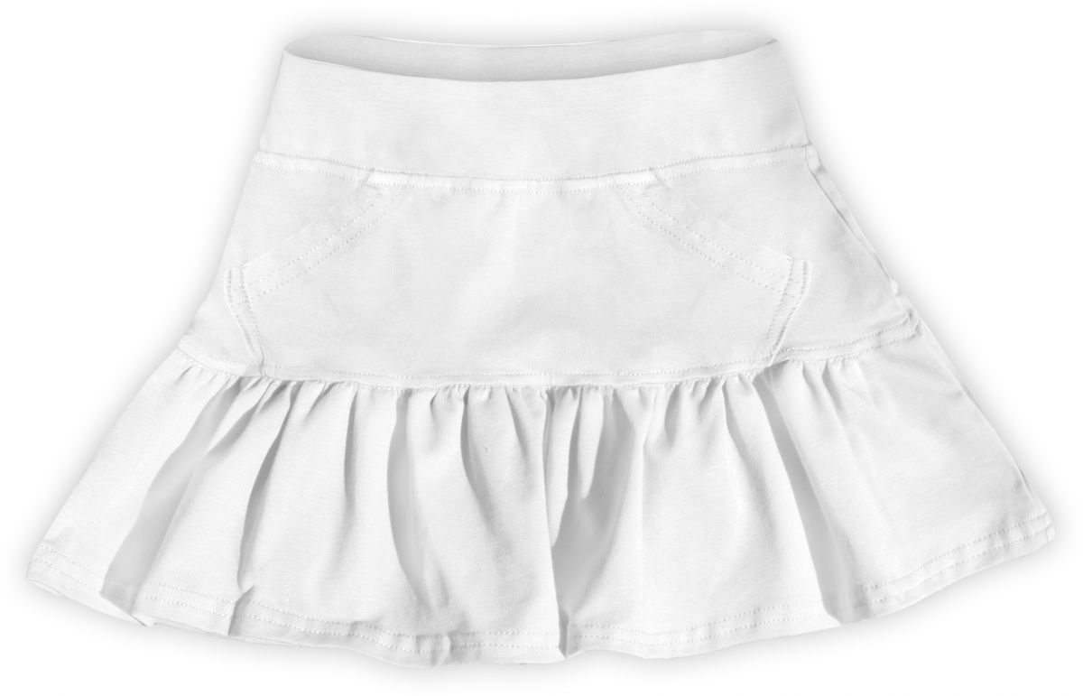 Dívčí (dětská) sukně,  BÍLÁ